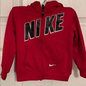 Nike zip up hoodie  size 24 months